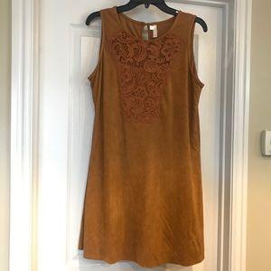 Large Faux Brown Suede Xhilaration Dress